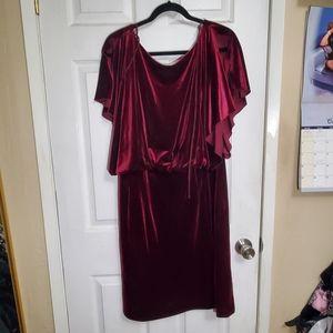 Jessica Simpson Velvet Low Back Dress